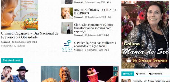 VeredaSol – Portal de Notícias e Coluna Social – by Solange Bortoleto